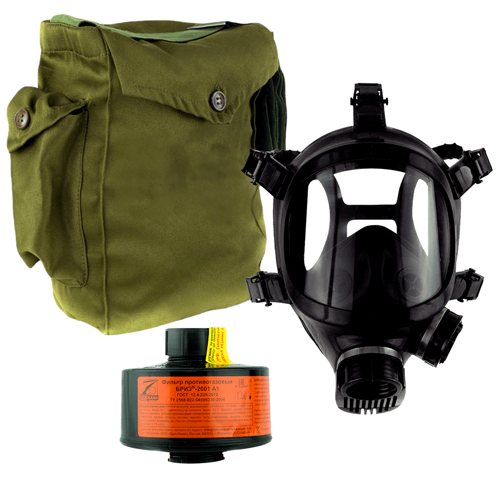 Промышленный противогаз Бриз-3301(ППФ) A1 маска ППМ