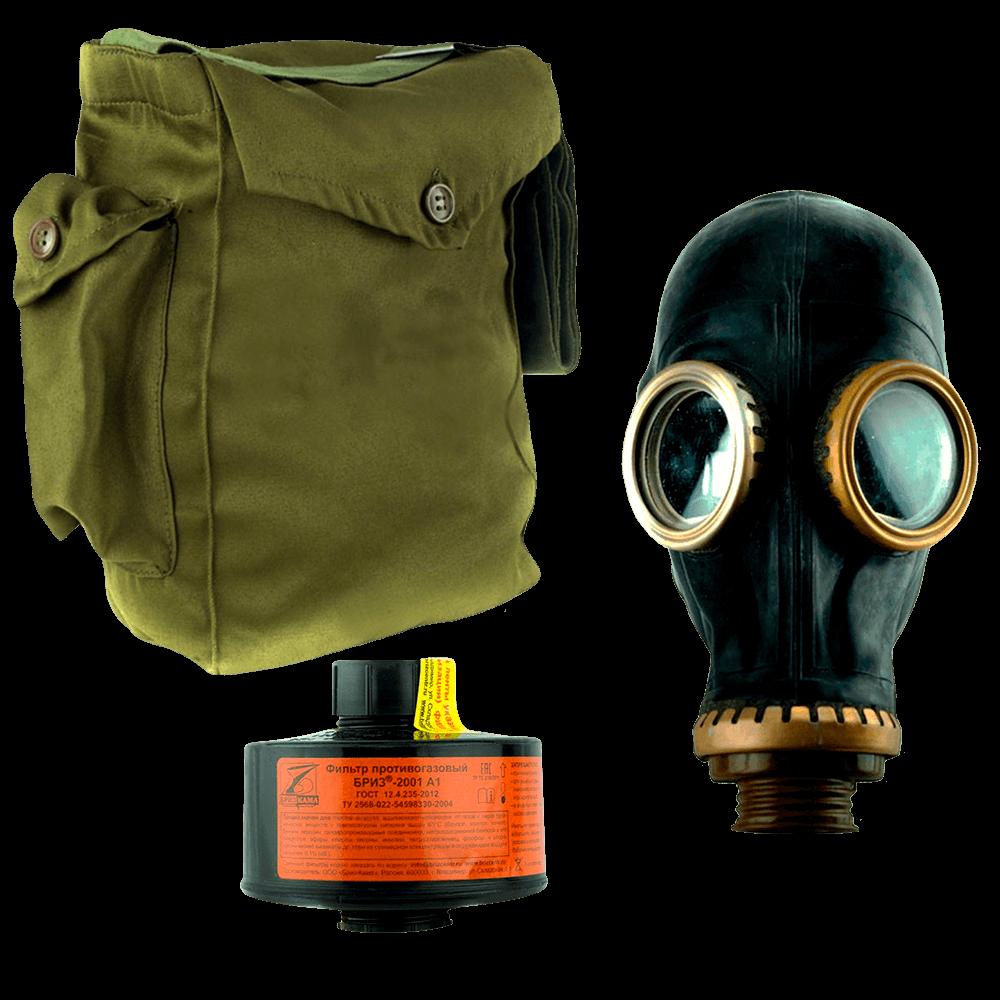 Промышленный противогаз Бриз-3301(ППФ) A1 маска ШМП