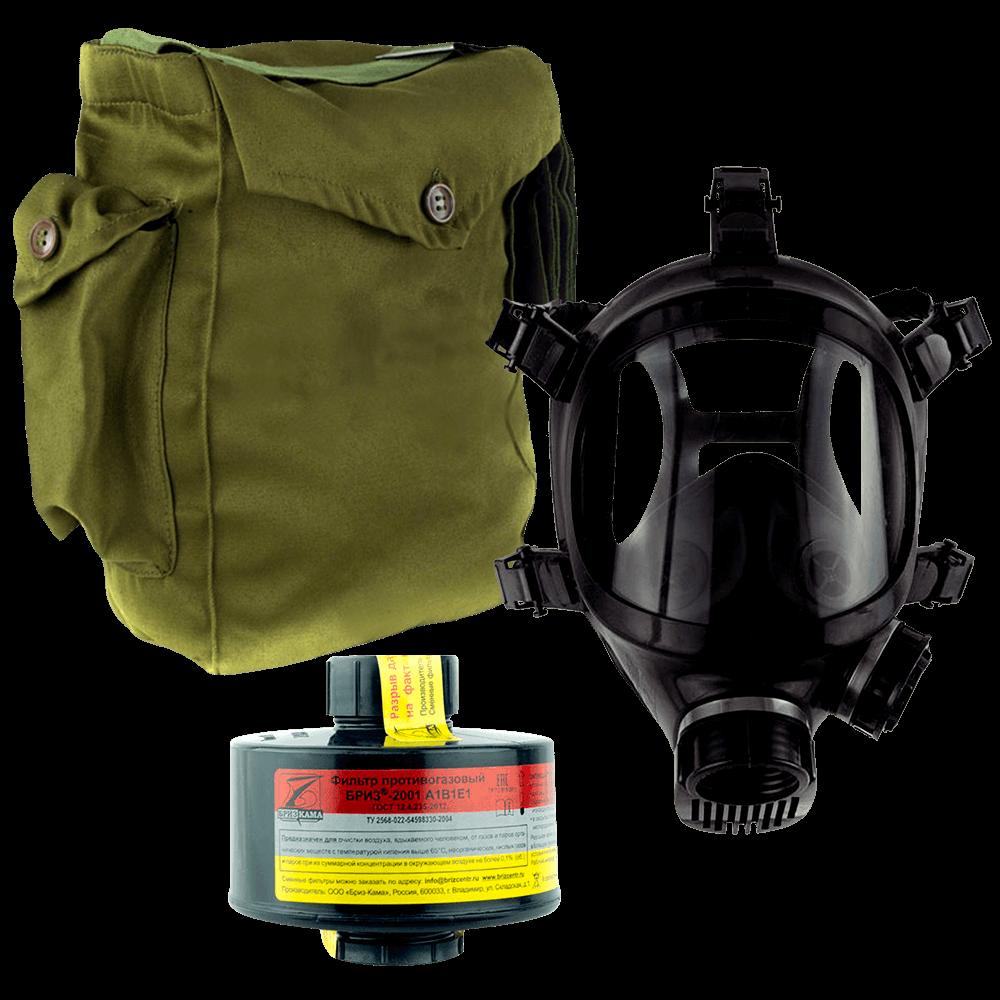 Промышленный противогаз Бриз-3301(ППФ) A1B1E1 маска ППМ