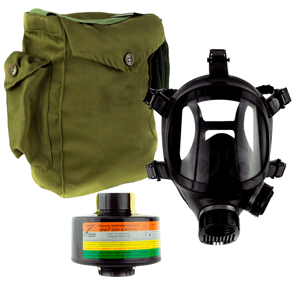 Промышленный противогаз Бриз-3301(ППФ) A1B1E1K1 маска ППМ