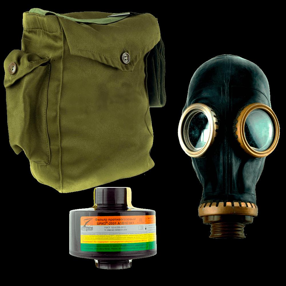 Промышленный противогаз Бриз-3301(ППФ) A1B1E1K1 маска ШМП
