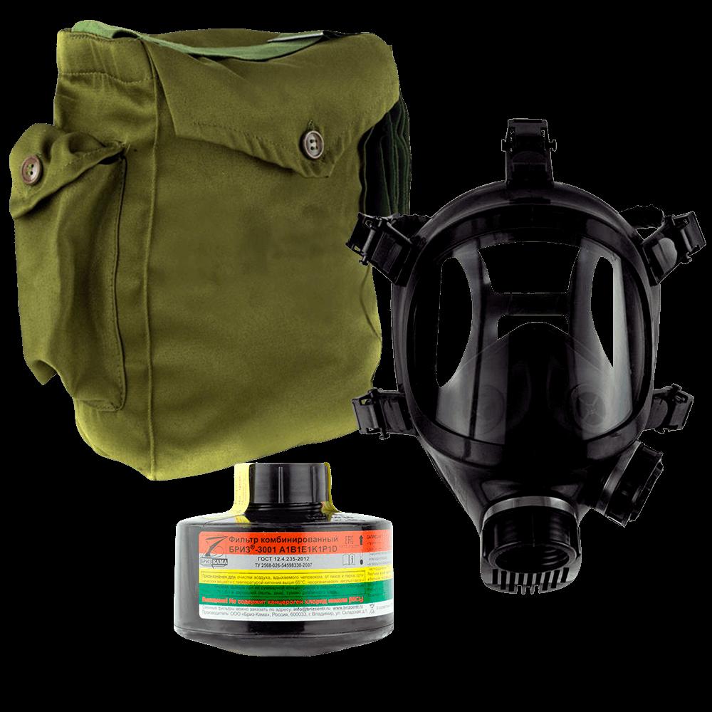 Промышленный противогаз Бриз-3301(ППФ) A1B1E1K1P1D маска ППМ