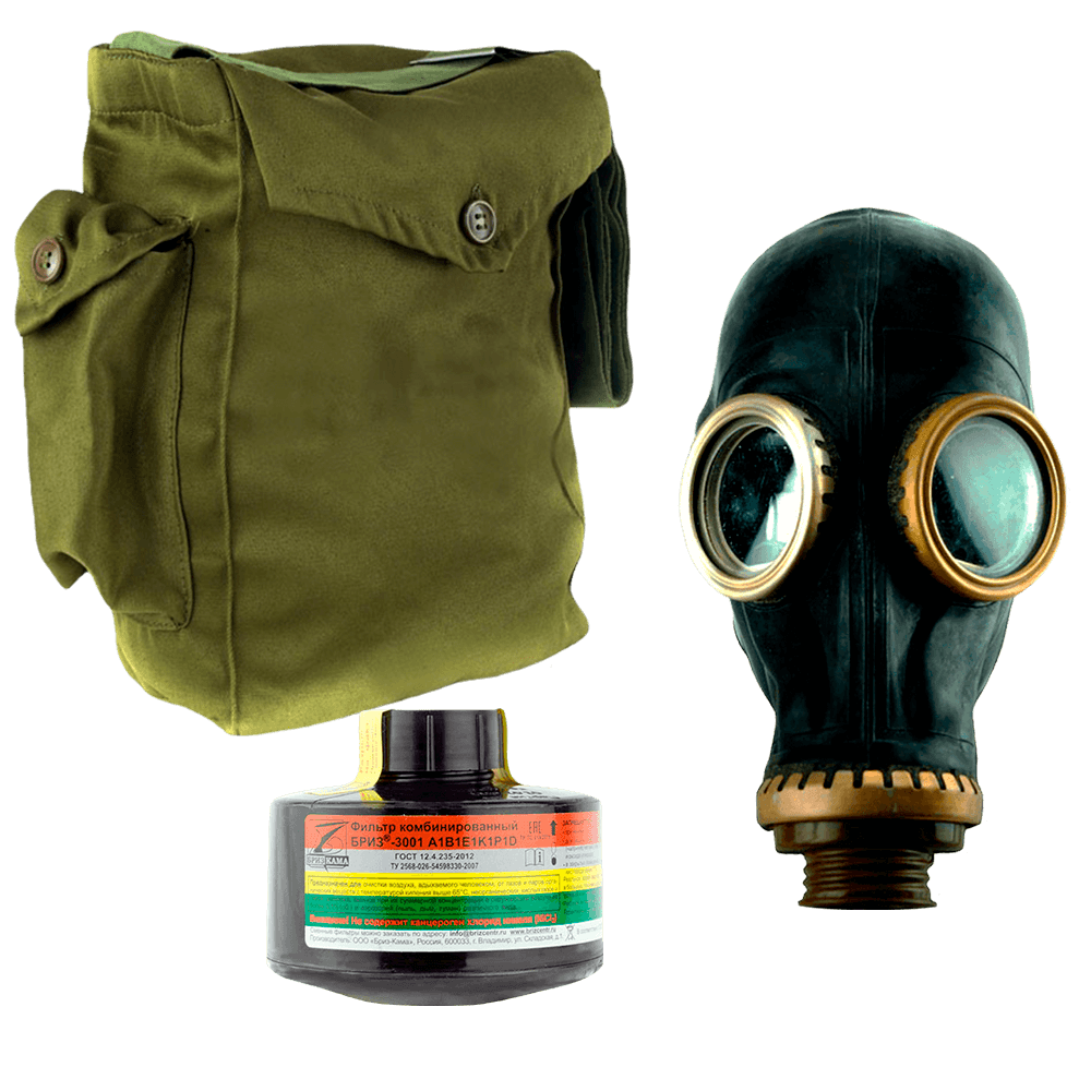 Промышленный противогаз Бриз-3301(ППФ) A1B1E1K1P1D маска ШМП
