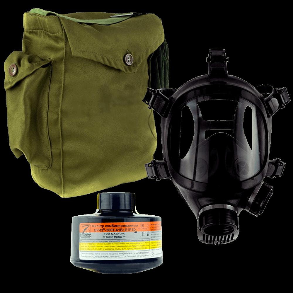 Промышленный противогаз Бриз-3301(ППФ) А1B1E1P1D маска ППМ