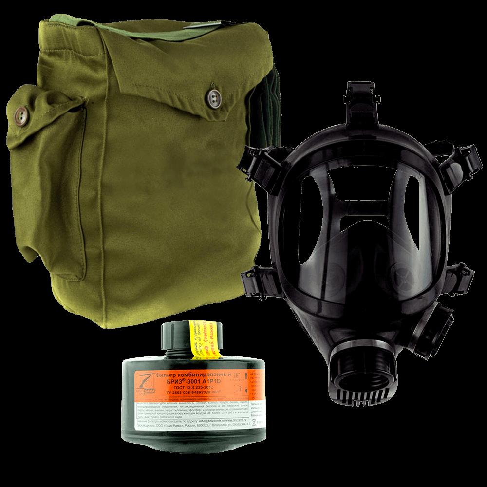 Промышленный противогаз Бриз-3301(ППФ) A1P1D маска ППМ
