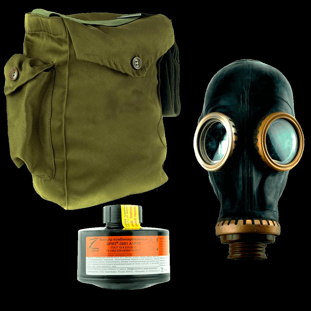 Промышленный противогаз Бриз-3301(ППФ) A1P1D маска ШМП
