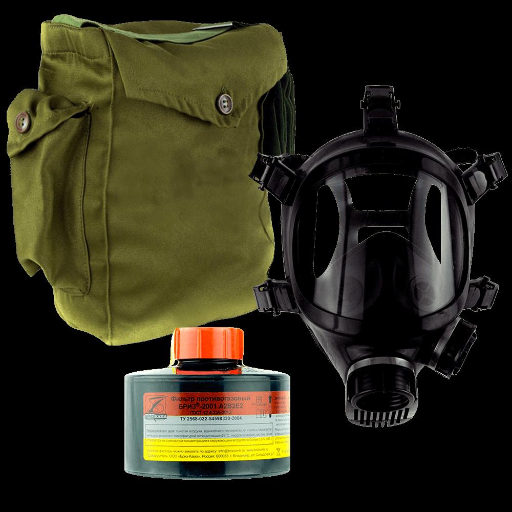 Промышленный противогаз Бриз-3301(ППФ) A2B2E2 маска ППМ