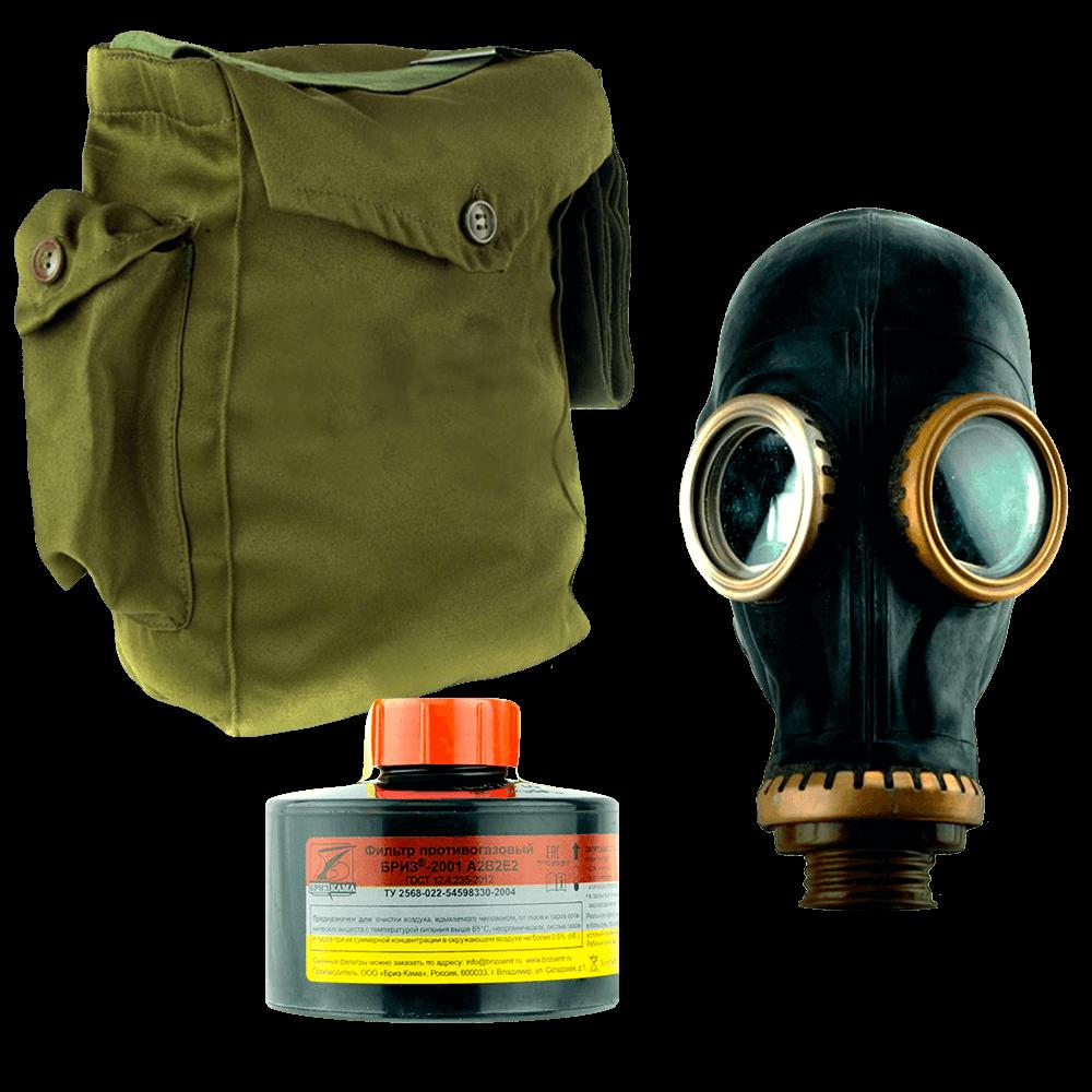 Промышленный противогаз Бриз-3301(ППФ) A2B2E2 маска ШМП
