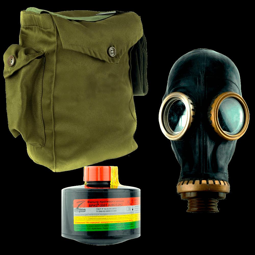 Промышленный противогаз Бриз-3301(ППФ) A2B2E2K2 маска ШМП