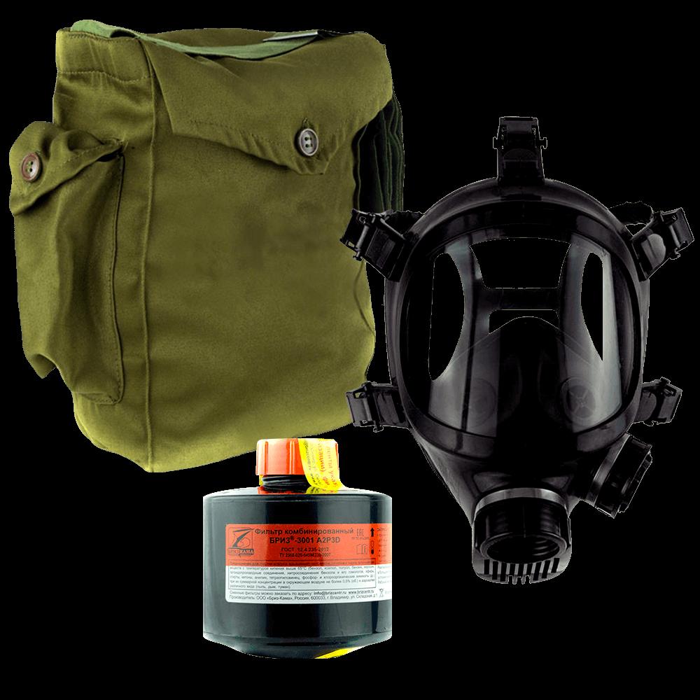 Промышленный противогаз Бриз-3301(ППФ) A2P3D маска ППМ