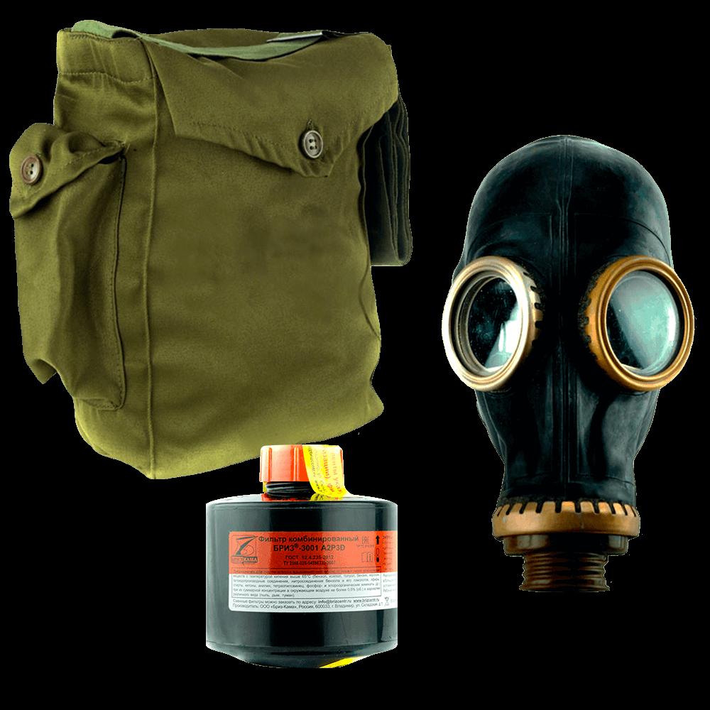Промышленный противогаз Бриз-3301(ППФ) A2P3D маска ШМП