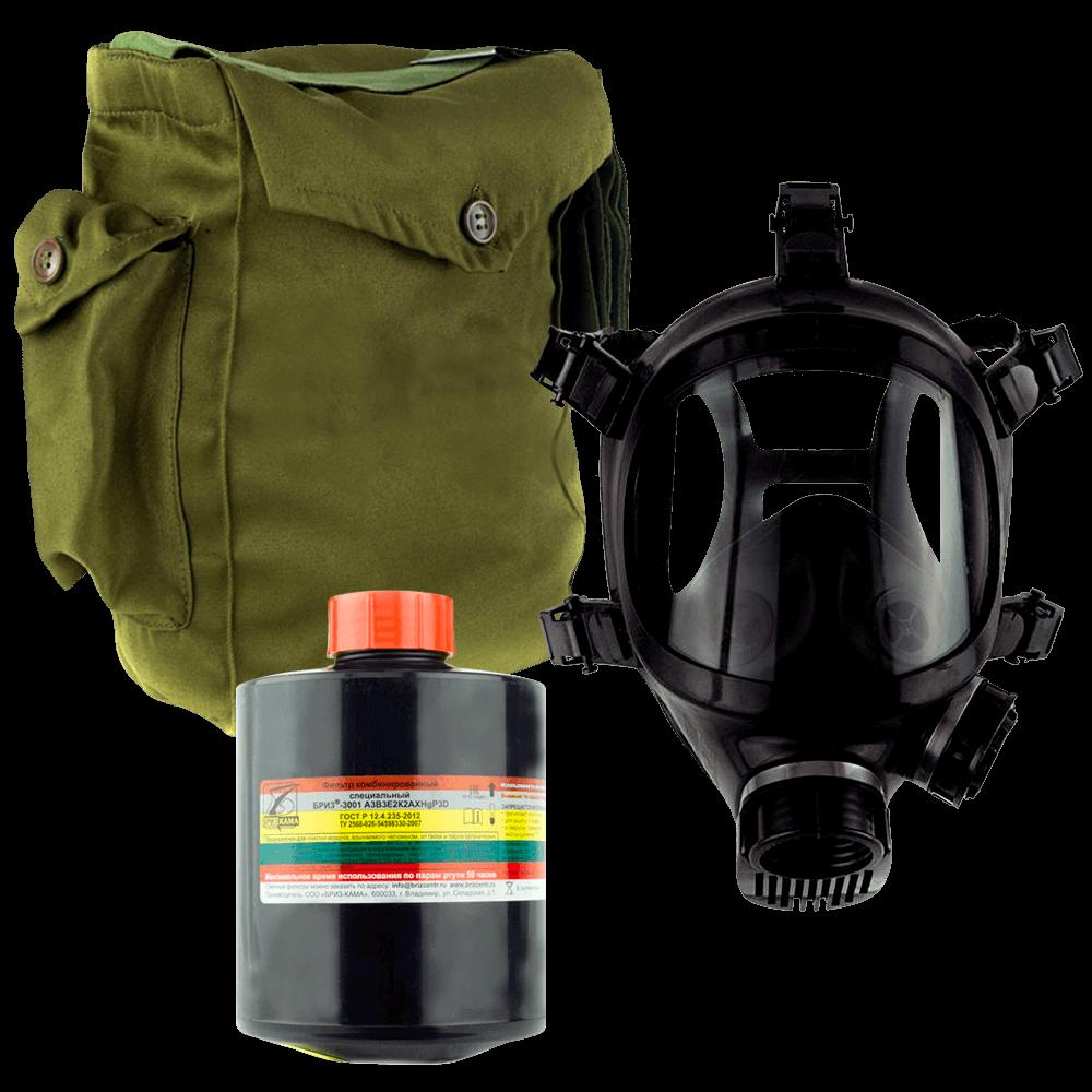 Промышленный противогаз Бриз-3301(ППФ) А3В3E3АХР3D маска ППМ