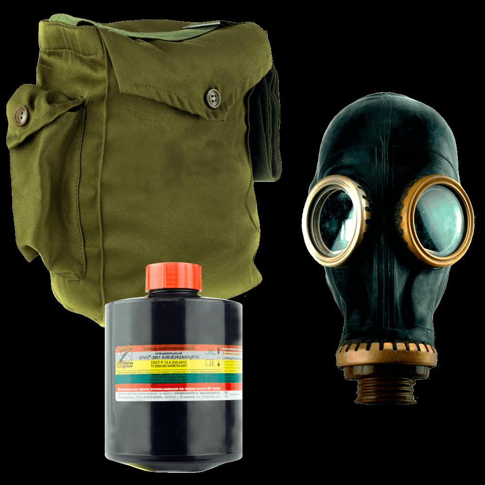 Промышленный противогаз Бриз-3301(ППФ) А3АХР3D маска ШМП