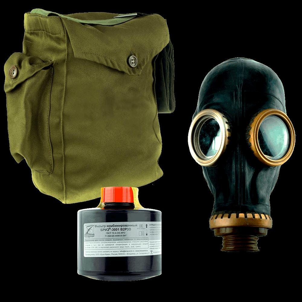Промышленный противогаз Бриз-3301(ППФ) A3B3E2K2P3D маска ШМП
