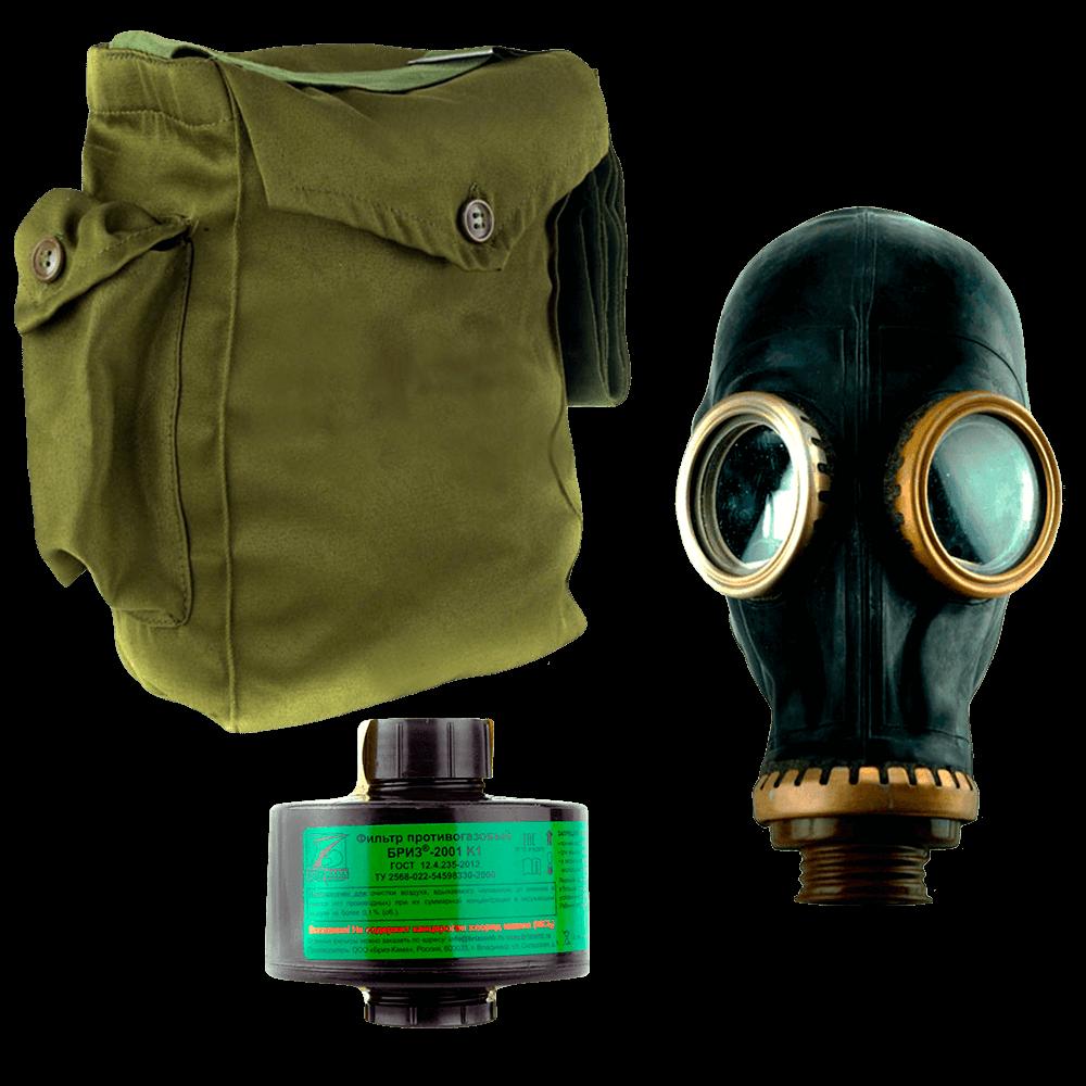 Промышленный противогаз Бриз-3301(ППФ) K1 маска ШМП