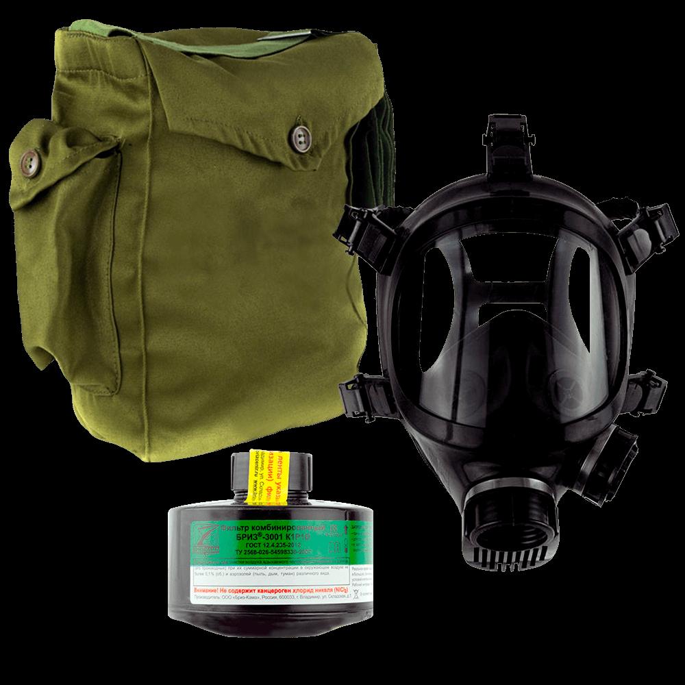 Промышленный противогаз Бриз-3301(ППФ) K1P1D маска ППМ