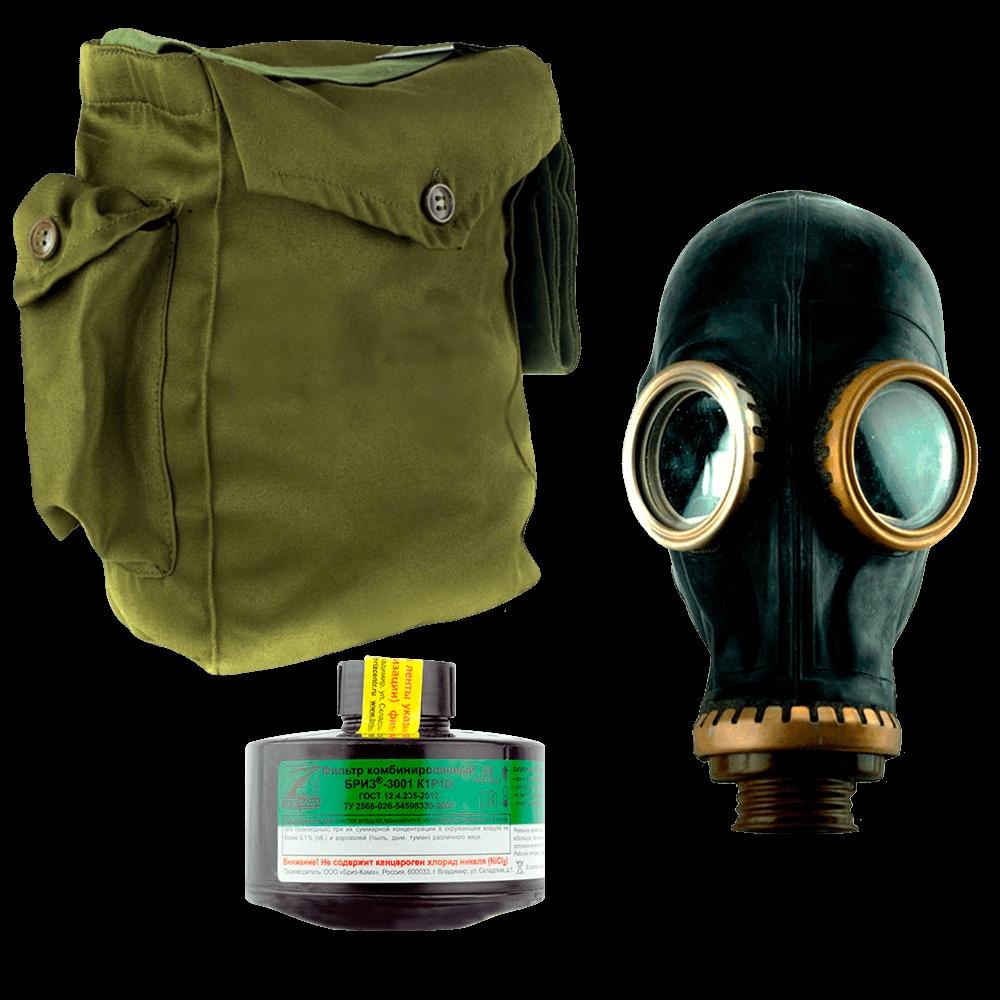 Промышленный противогаз Бриз-3301(ППФ) K1P1D маска ШМП