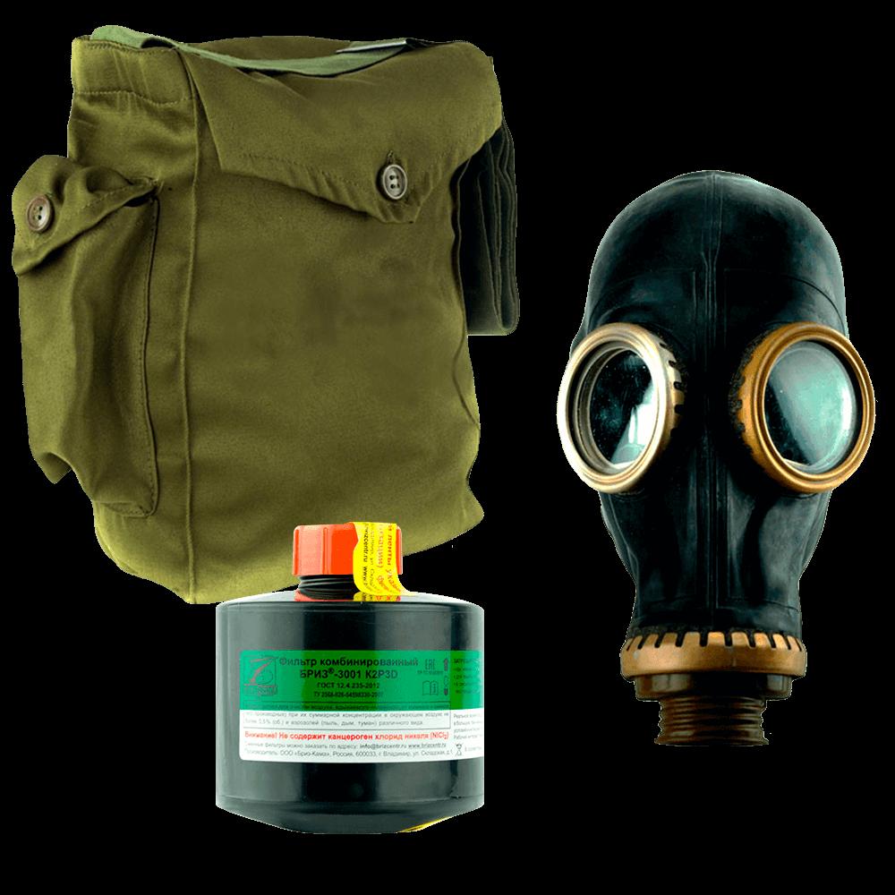 Промышленный противогаз Бриз-3301(ППФ) K2P3D маска ШМП