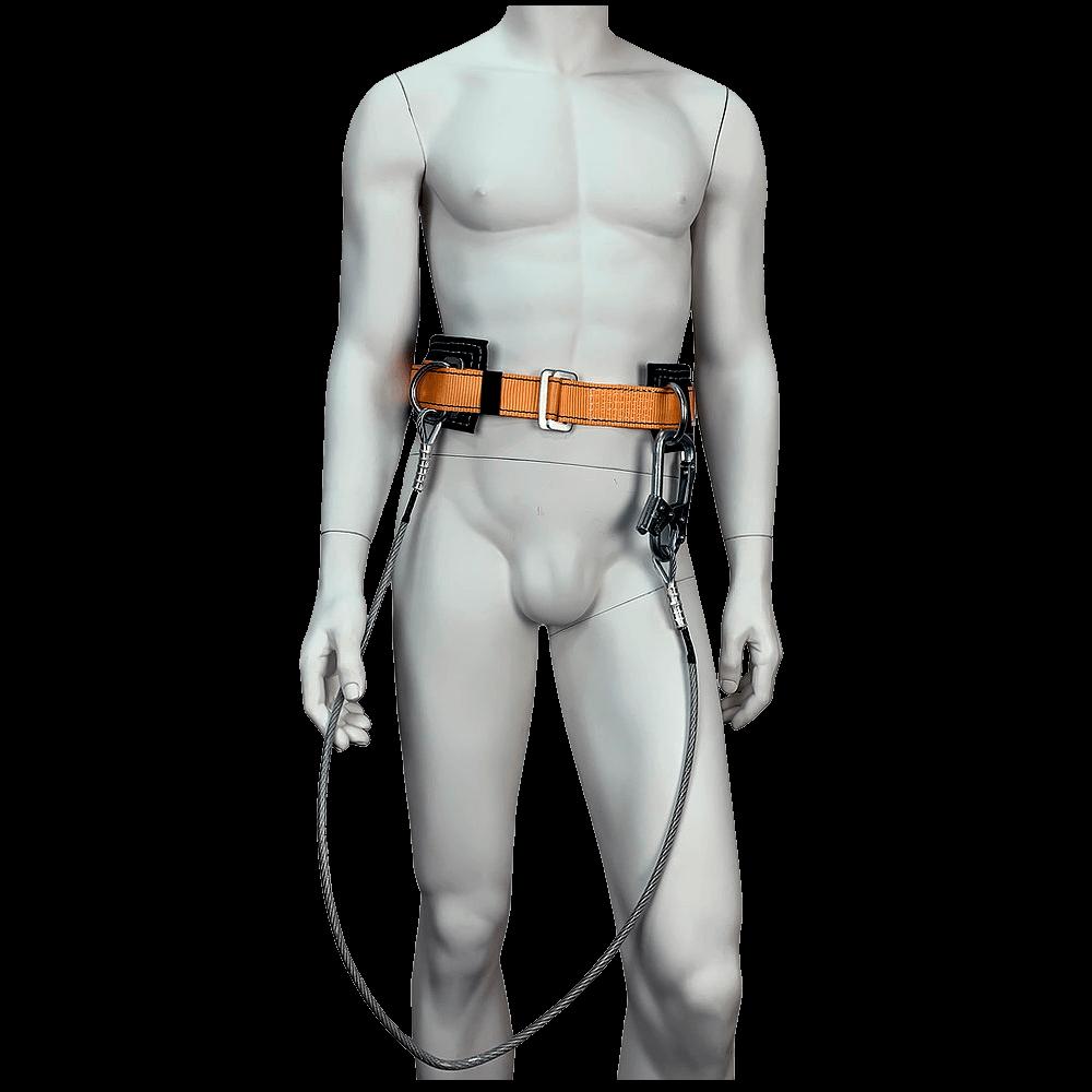 Безлямочная удерживающая привязь УС-1Б со стропом (трос) спереди