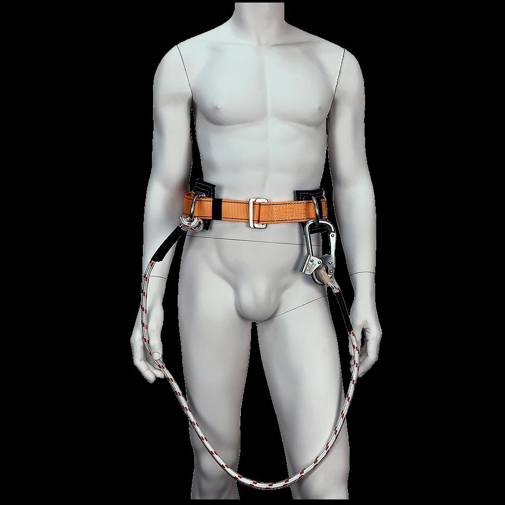 Безлямочная удерживающая привязь УС-1В со стропом (верёвка) спереди