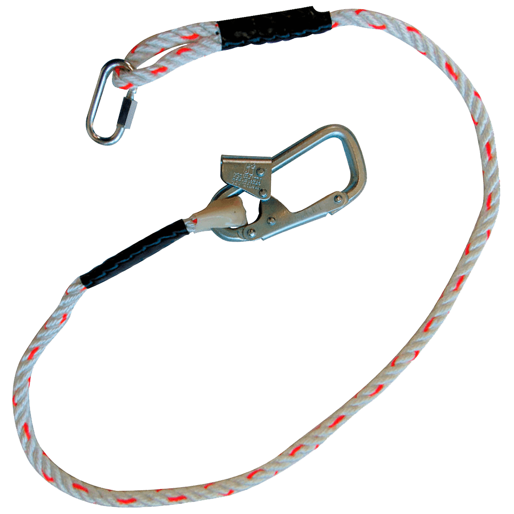 Строп В (канат) с монтажным карабином и соединительным винтовым карабином