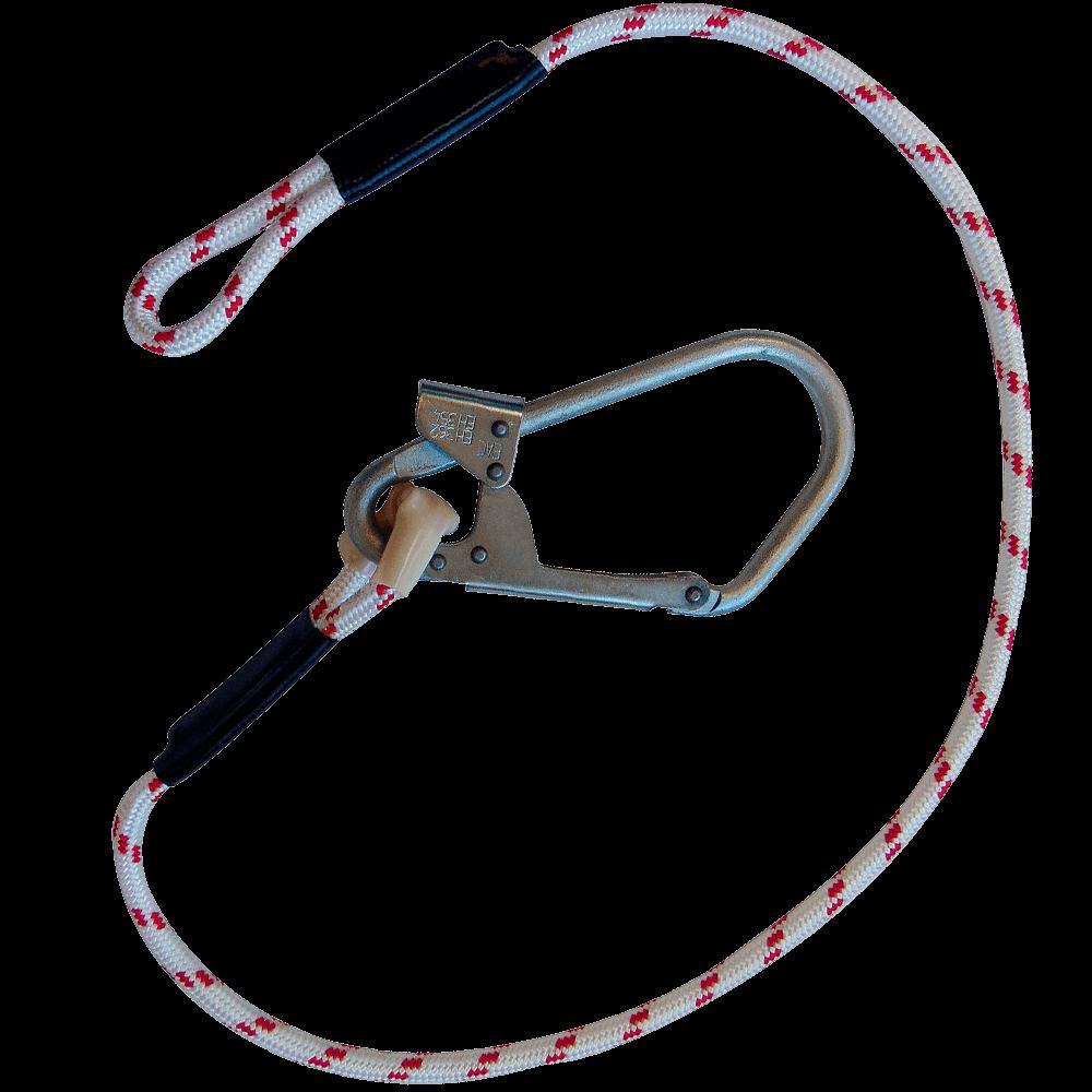 Строп В (верёвка) с большим монтажным карабином и крепежной петлей