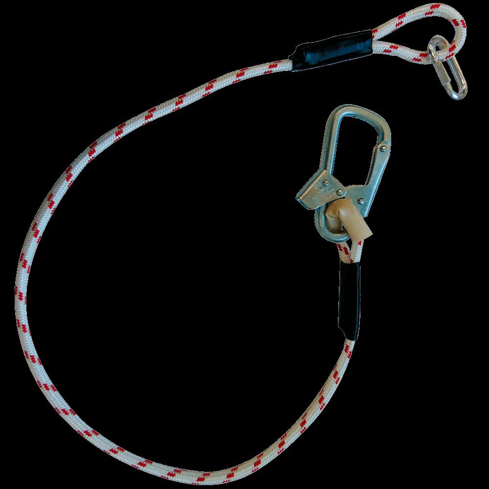 Строп В (верёвка) с монтажным и соединительным винтовым карабином