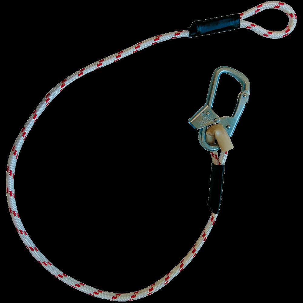 Строп В (верёвка) с монтажным карабином и крепежной петлей