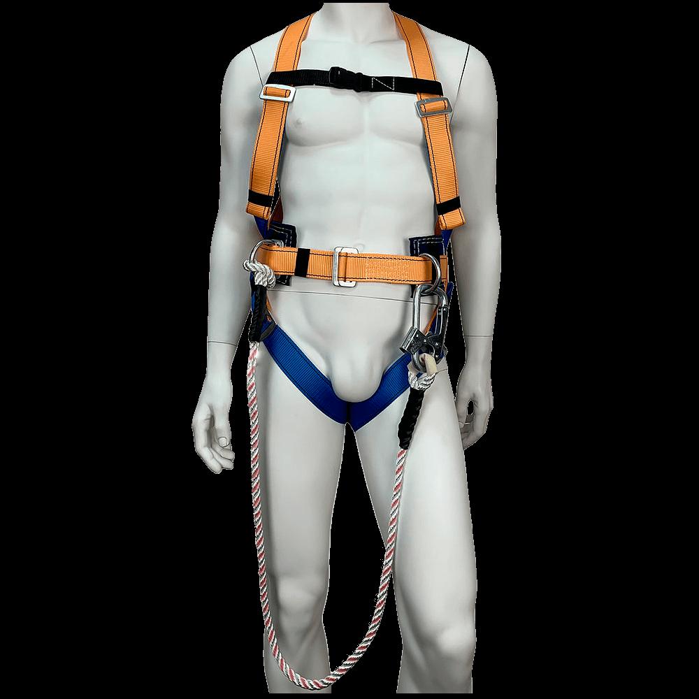 Удерживающая привязь УСП-2ВЖ со стропом (верёвка) спереди