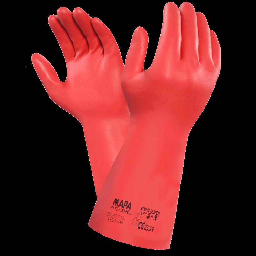 Перчатки химически стойкие латекс-нитрил Mapa Vital 181