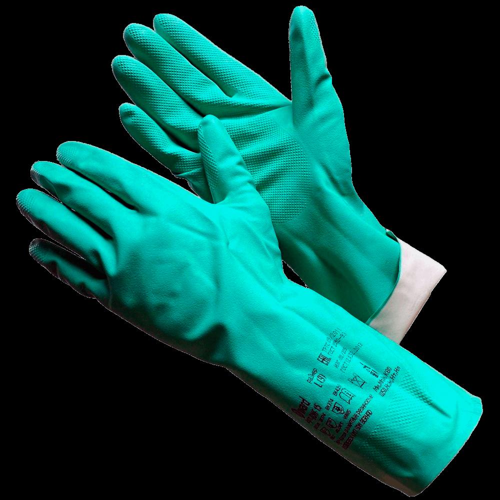 Перчатки химически стойкие нитриловые Gward RNF15