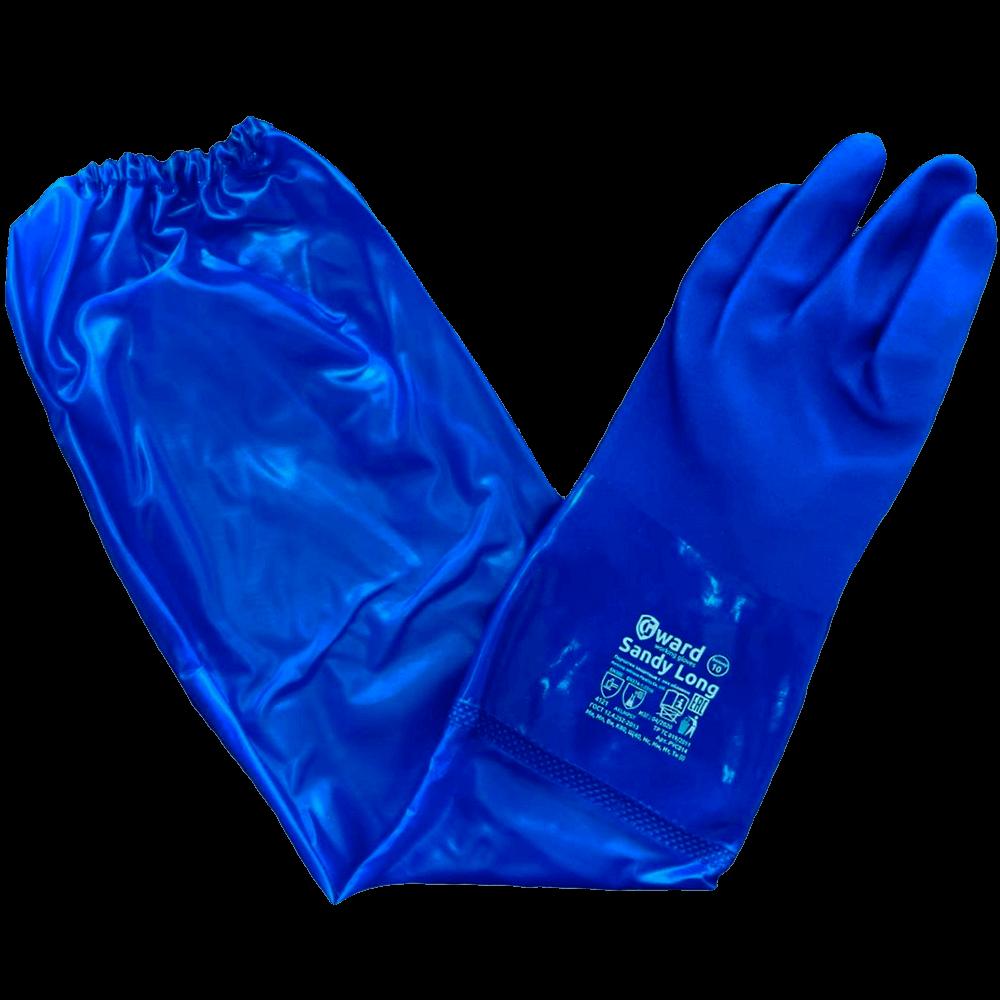 Перчатки химически стойкие с длинным рукавом Gward Sandy Long