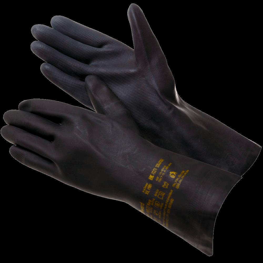 Перчатки химстойкие латекс с неопреном Gward HD27