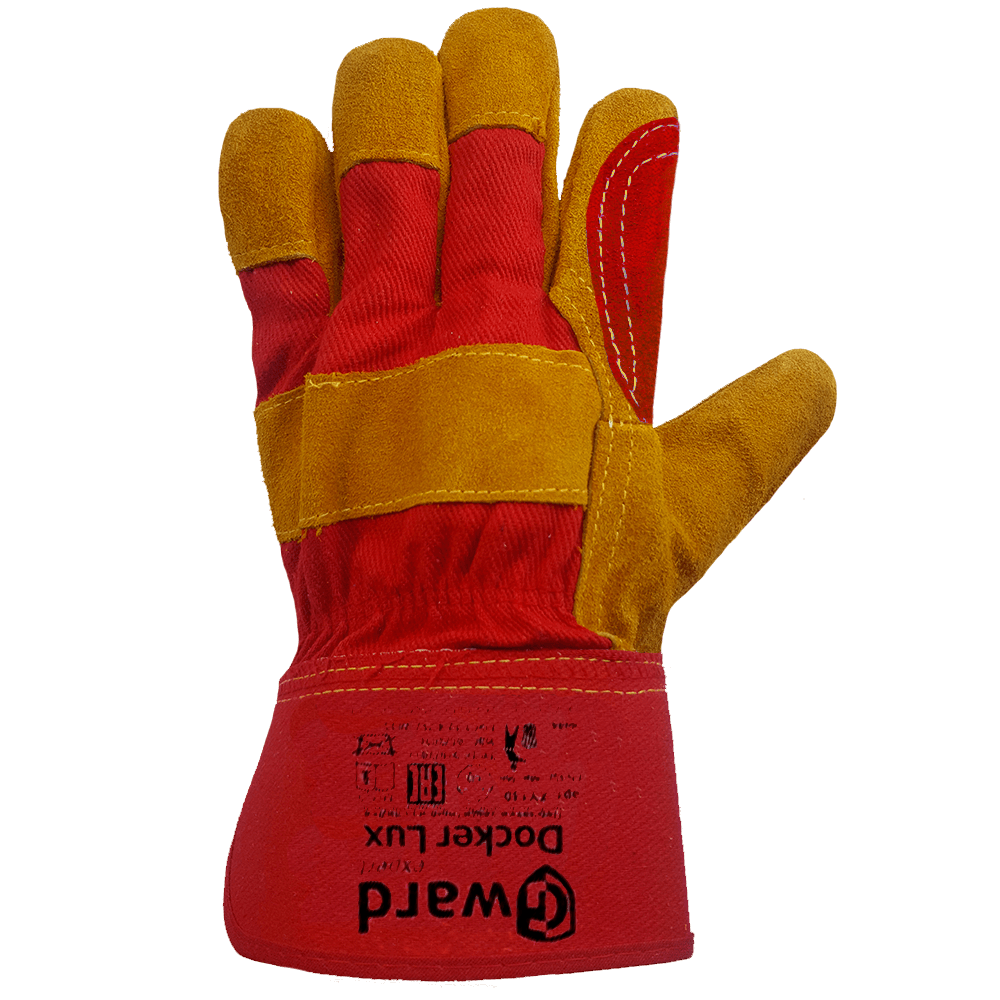 Перчатки комбинированные с двойным наладонником из спилка Gward Docker Lux