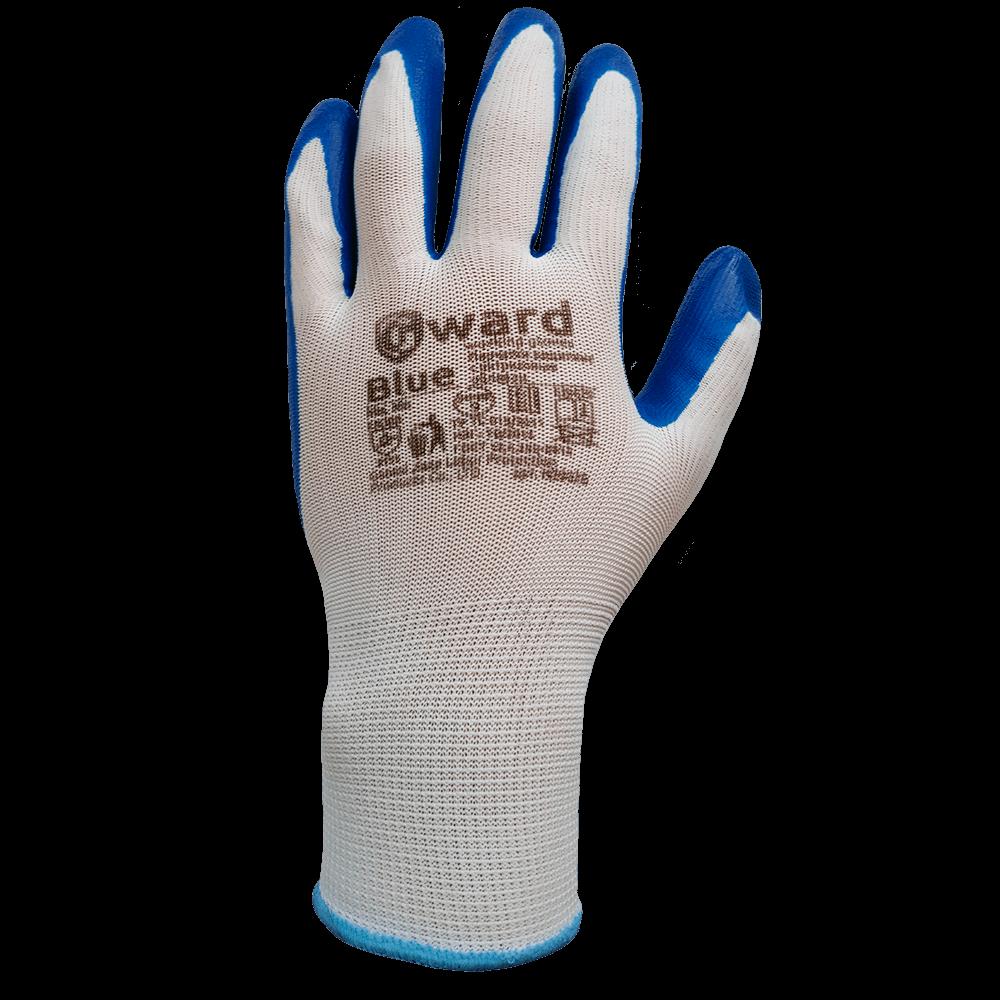 Перчатки нейлоновые с нитриловым покрытием Gward Blue