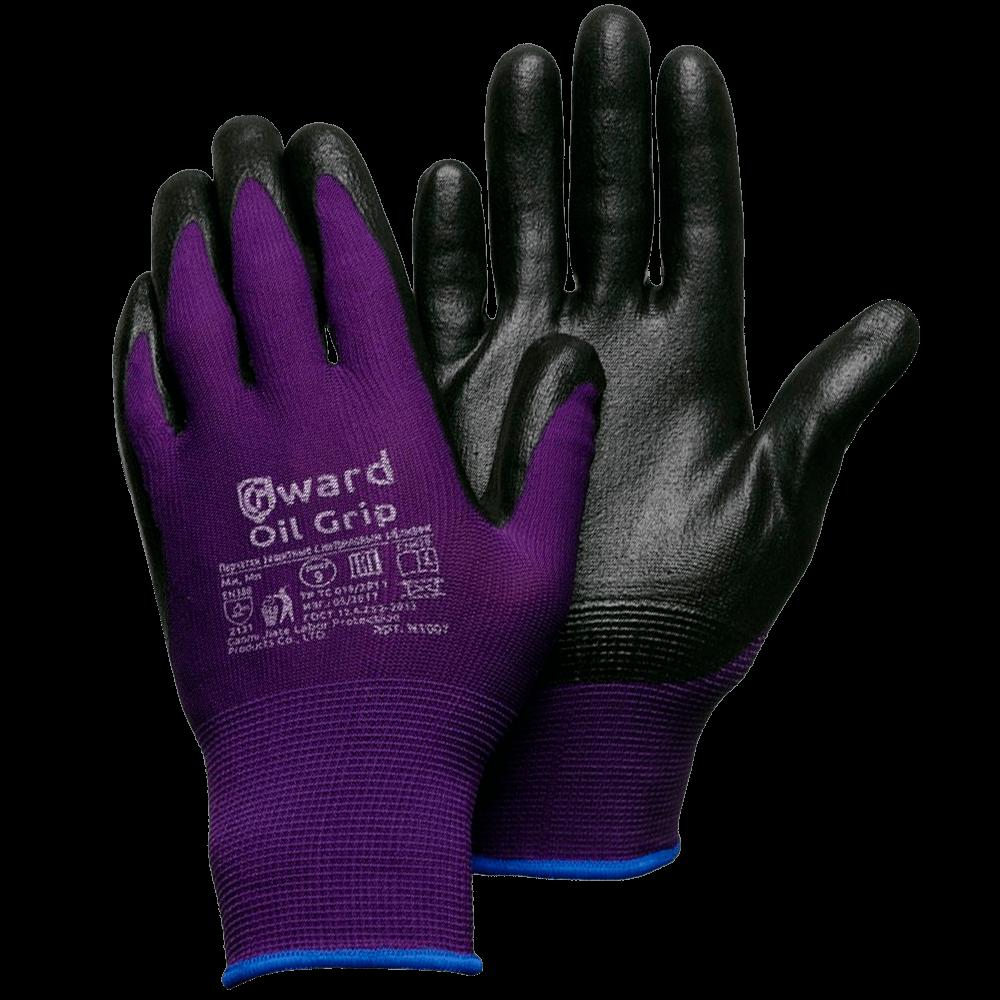 Перчатки нейлоновые со вспененным нитриловым покрытием Gward Oil Grip