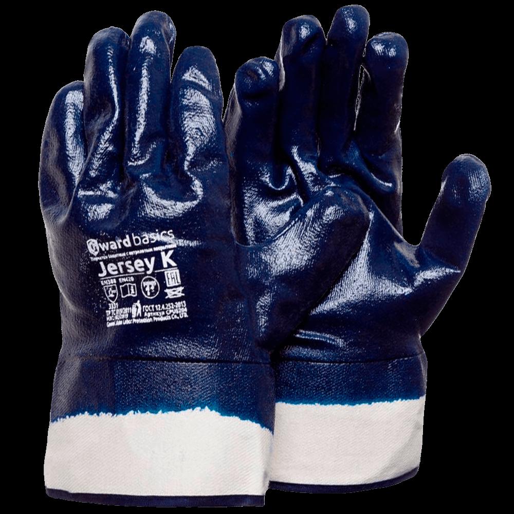 Перчатки с нитриловым покрытием манжет крага Gward Jersey K