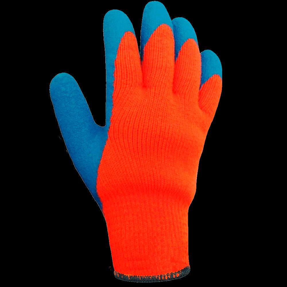 Перчатки утепленные акриловые с текстурированным латексом СВС Rubifrost