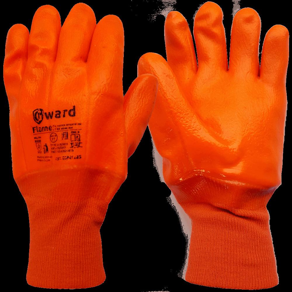 Перчатки утепленные МБС с ПВХ покрытием Gward Flame
