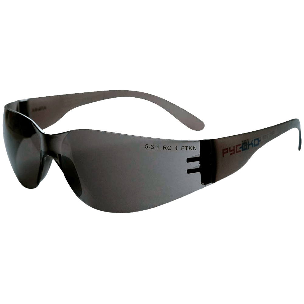 Очки защитные открытого типа РУСОКО Альфа Дарк